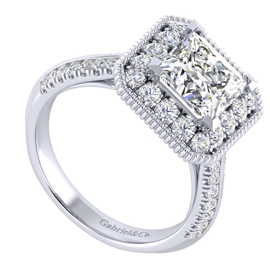 Gabriel 14 Karat Perfect Match Engagement Ring ER002C8ALW44JJ Alternative View 2