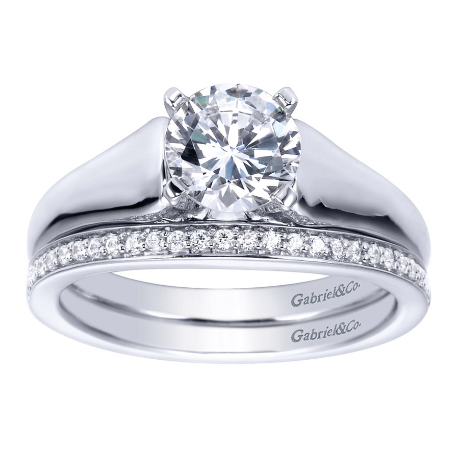 Gabriel Platinum Contemporary Engagement Ring ER8138PTJJJ Alternative View 3