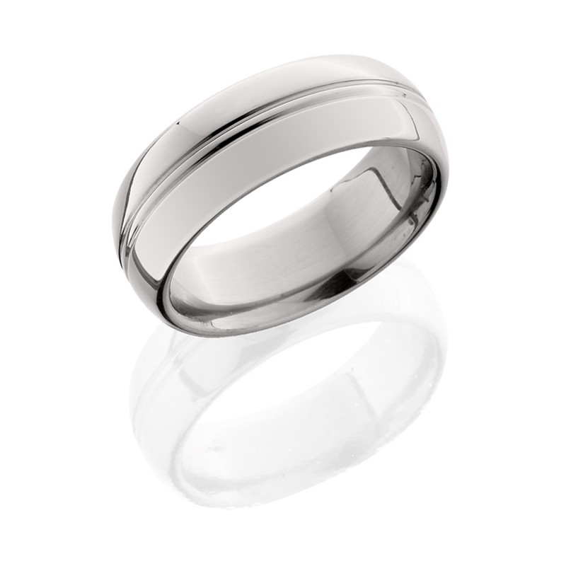 Lashbrook 8HRCP POLISH Titanium Wedding Ring or Band