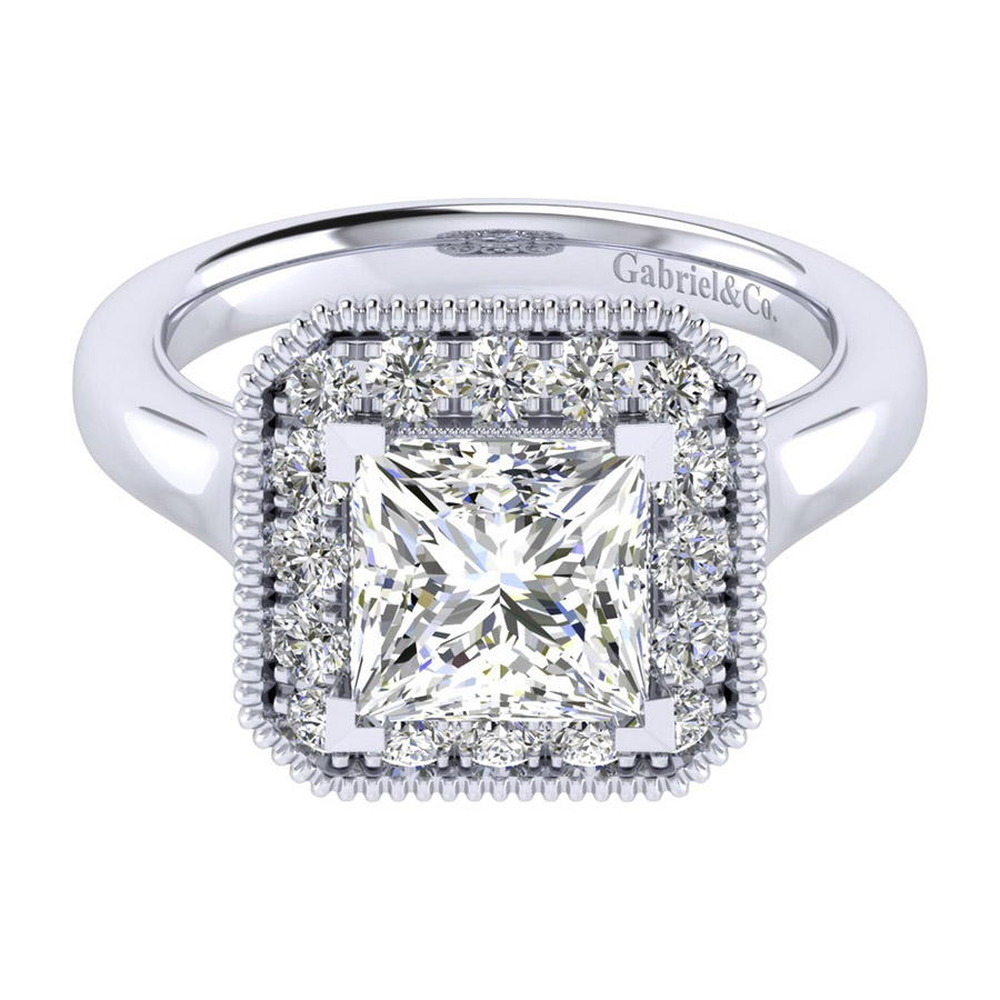 Gabriel 14 Karat Perfect Match Engagement Ring ER009C8ALW44JJ
