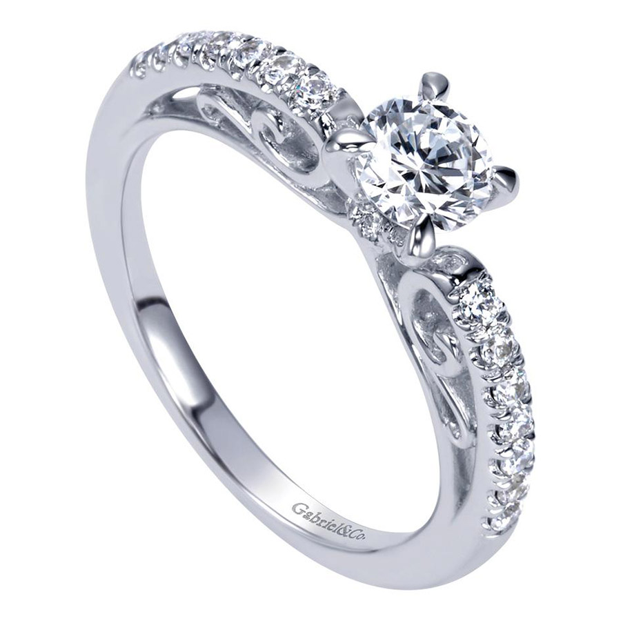 Gabriel 14 Karat Contemporary Engagement Ring ER98596W44JJ Alternative View 2
