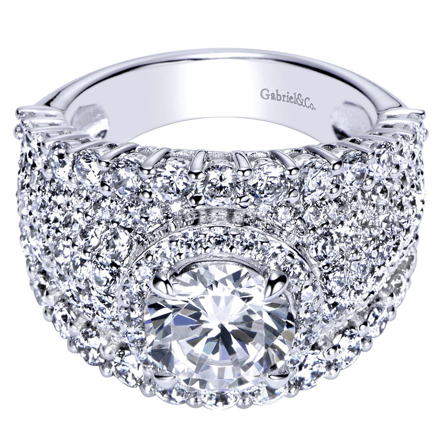 Gabriel 18 Karat Contemporary Engagement Ring ER8447W83JJ