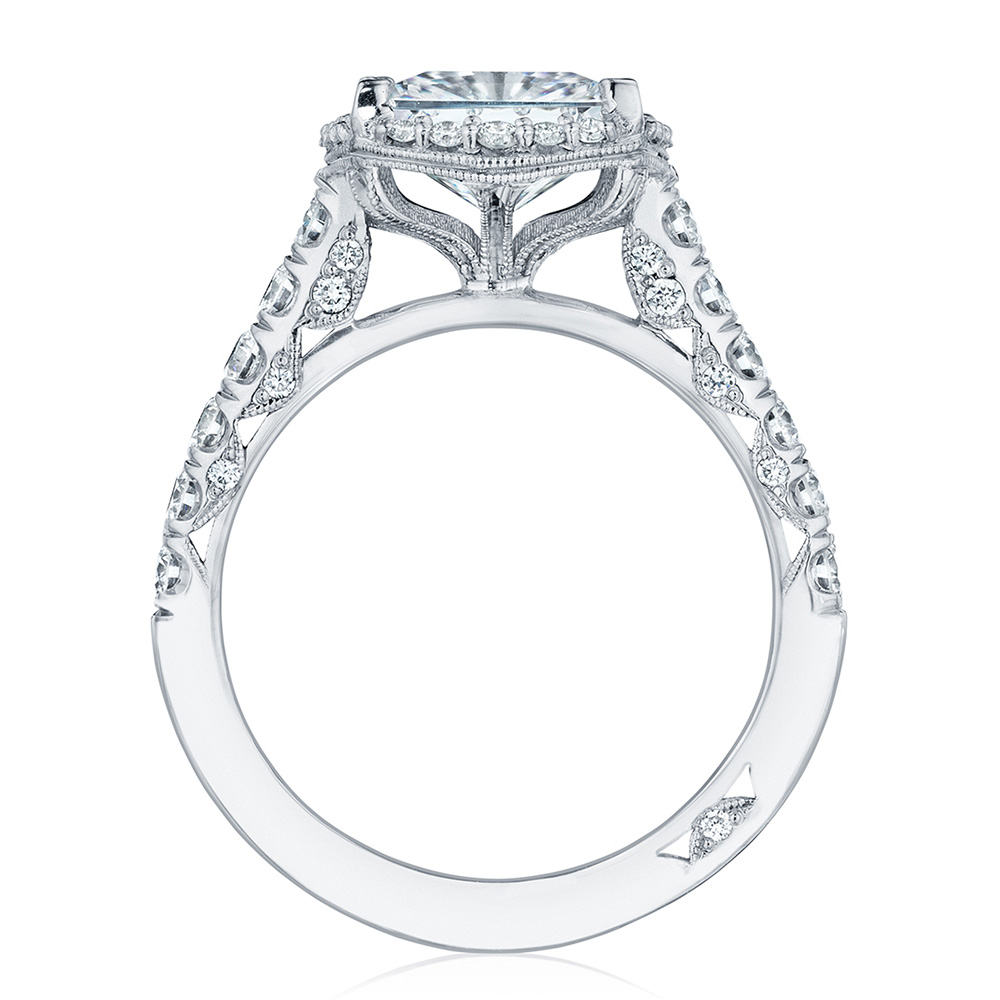 HT254725PR8 Platinum Tacori Petite Crescent Engagement Ring Alternative View 1