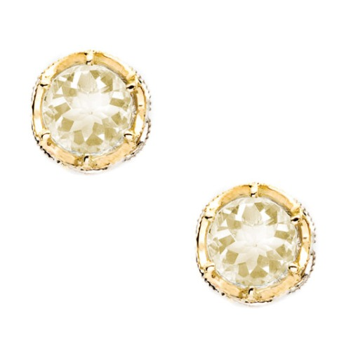 SE105Y07 Tacori Color Medley Crescent Crown Stud Earrings