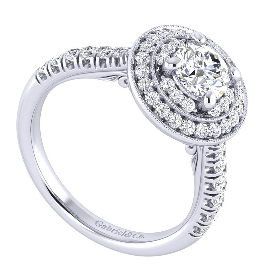 Gabriel 14 Karat Perfect Match Engagement Ring ER039B3AHW44JJ Alternative View 2