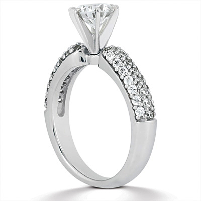 Taryn Collection Platinum Diamond Engagement Ring TQD A-1111 Alternative View 2