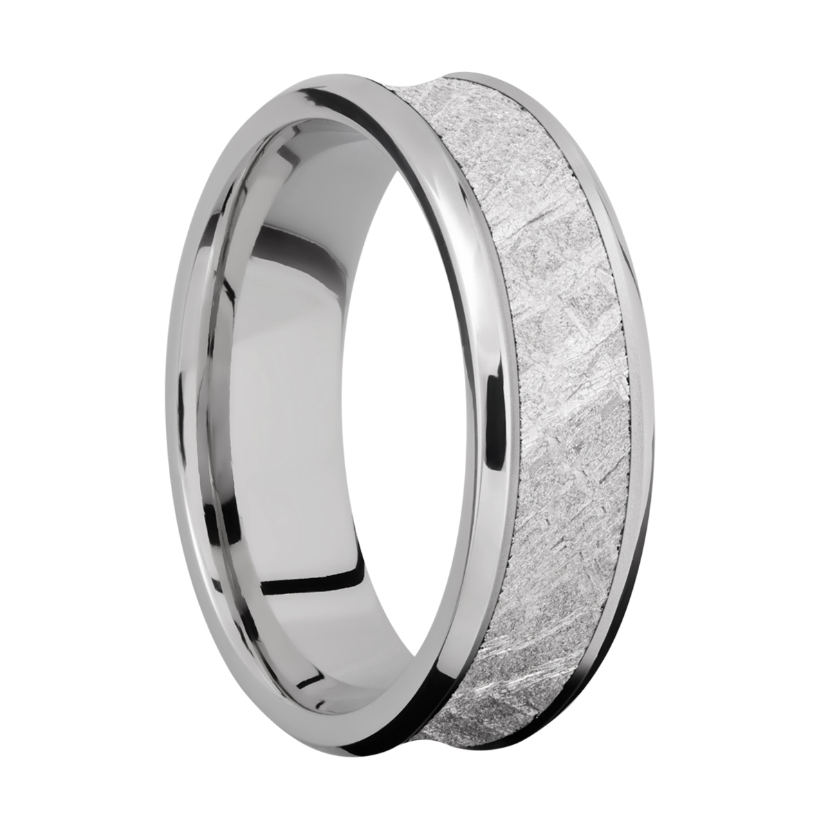 Lashbrook 7CB15/METEORITE Titanium Wedding Ring or Band Alternative View 1