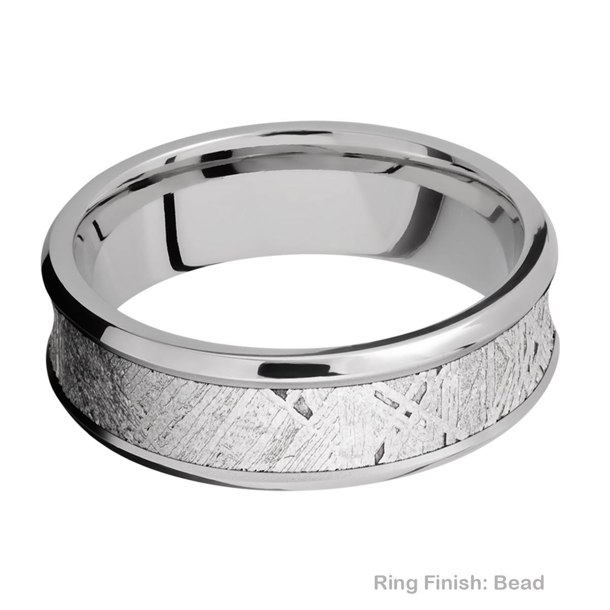 Lashbrook 7CB15/METEORITE Titanium Wedding Ring or Band Alternative View 2