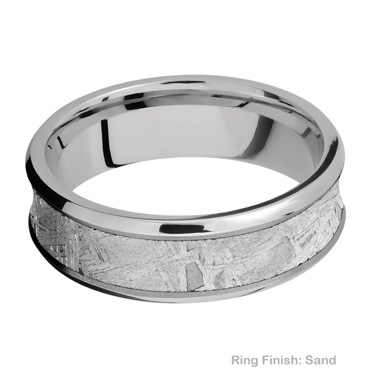 Lashbrook 7CB15/METEORITE Titanium Wedding Ring or Band Alternative View 4