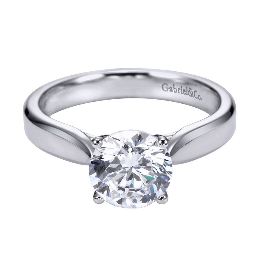 Gabriel Platinum Contemporary Engagement Ring ER6593PTJJJ