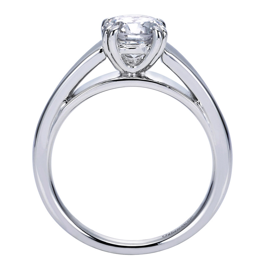 Gabriel Platinum Contemporary Engagement Ring ER8137PTJJJ Alternative View 1