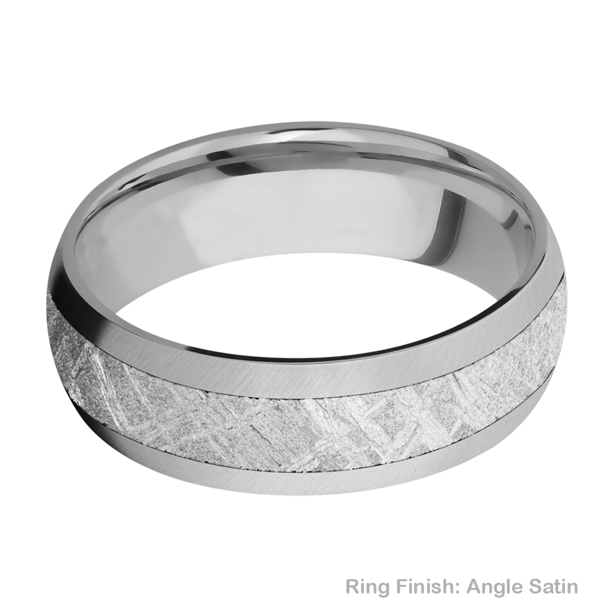 Lashbrook 7D14/METEORITE Titanium Wedding Ring or Band Alternative View 7