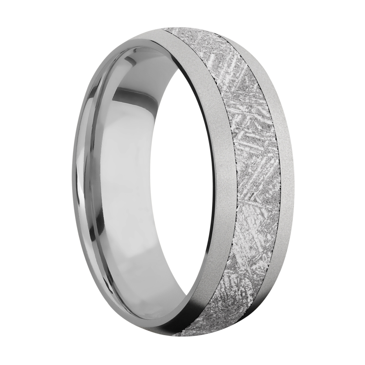 Lashbrook 7D14/METEORITE Titanium Wedding Ring or Band Alternative View 1
