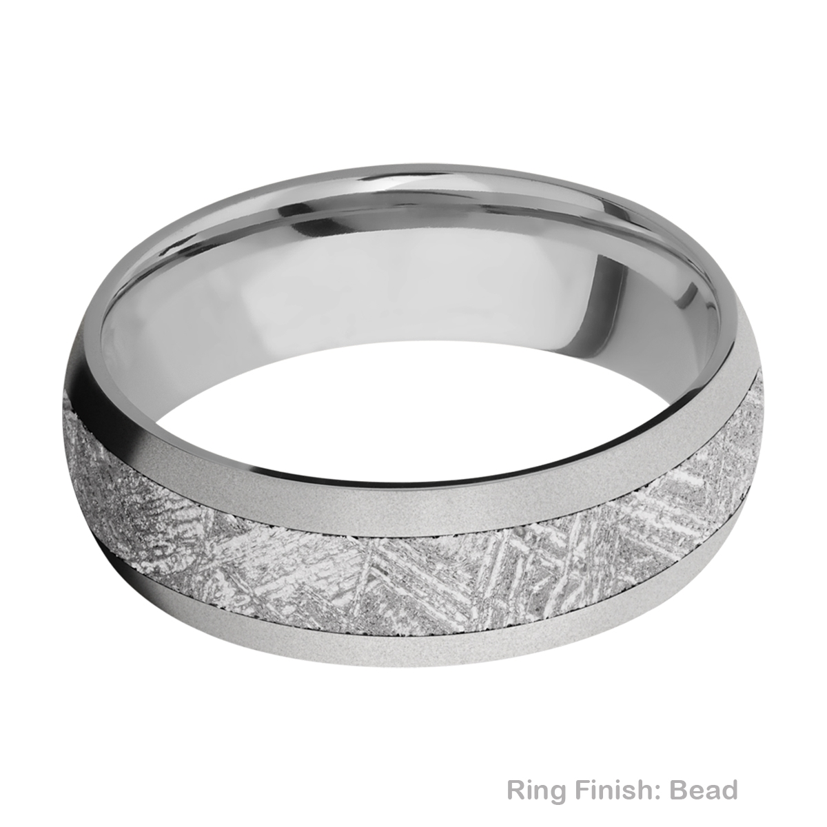 Lashbrook 7D14/METEORITE Titanium Wedding Ring or Band Alternative View 2