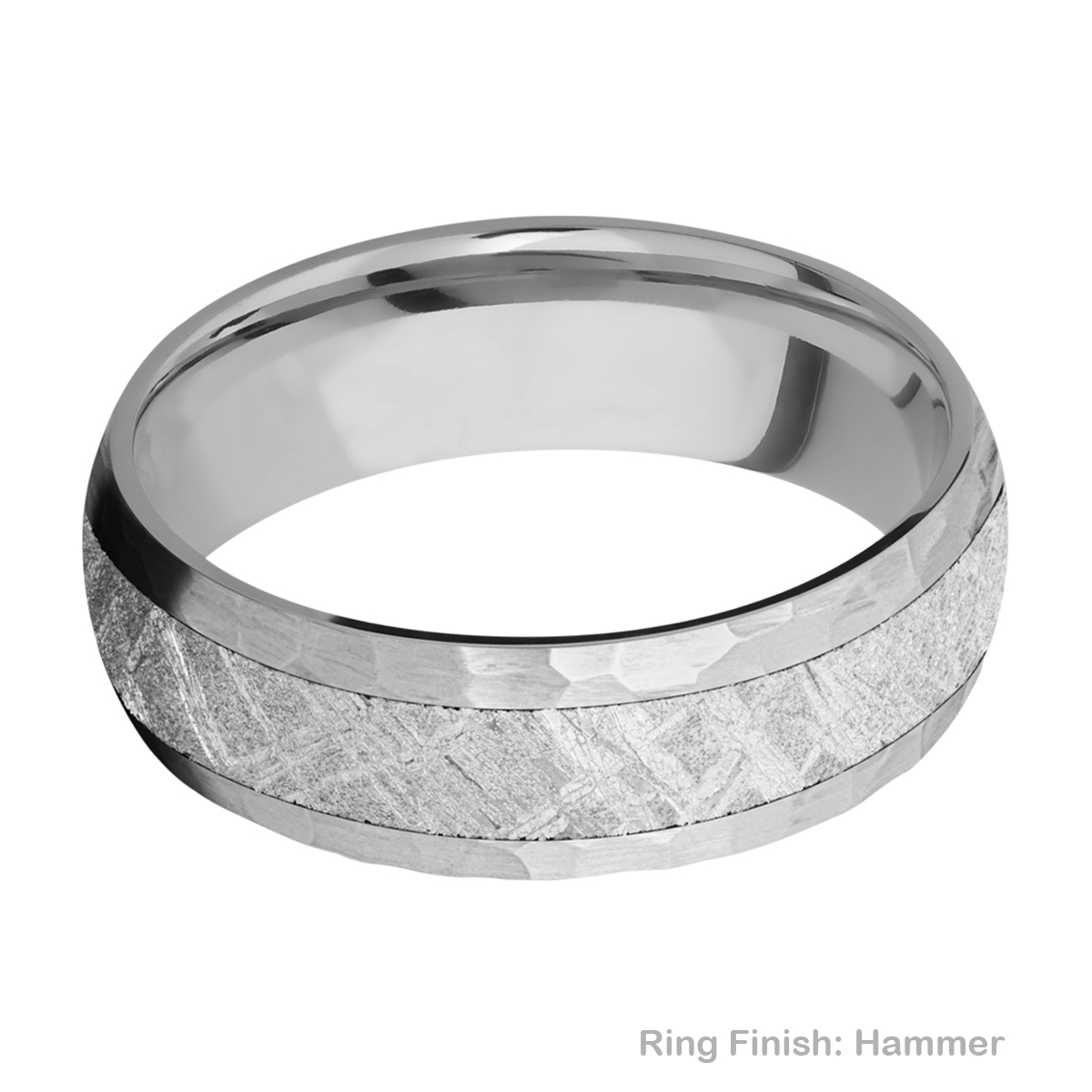 Lashbrook 7D14/METEORITE Titanium Wedding Ring or Band Alternative View 8