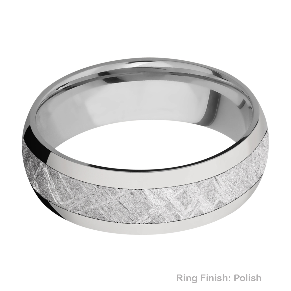 Lashbrook 7D14/METEORITE Titanium Wedding Ring or Band Alternative View 3