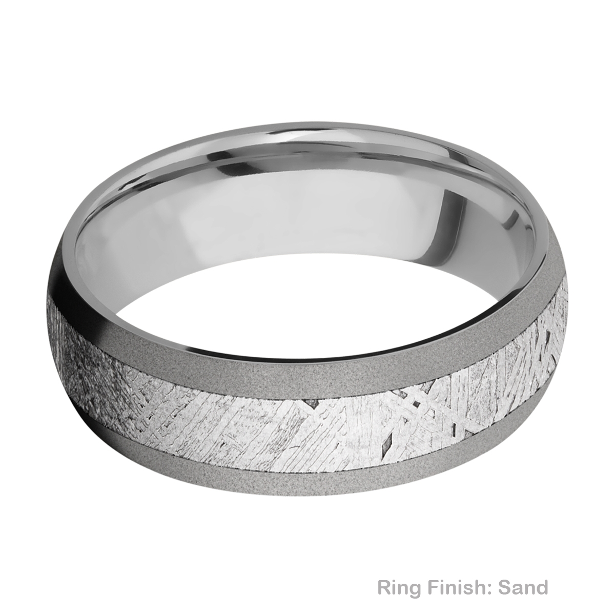 Lashbrook 7D14/METEORITE Titanium Wedding Ring or Band Alternative View 4