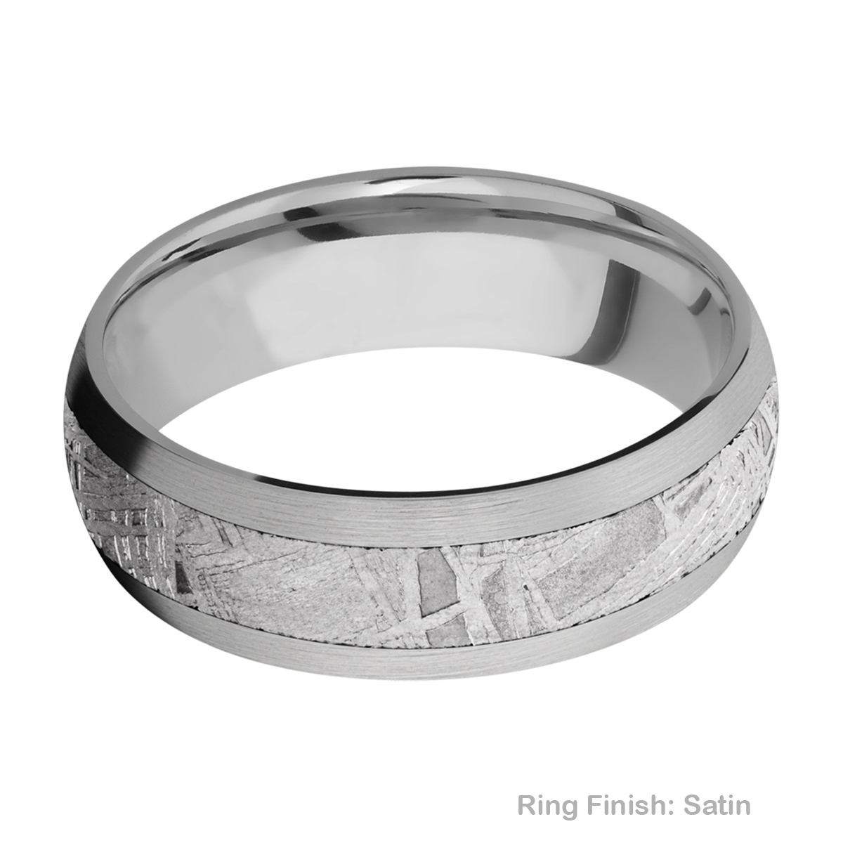 Lashbrook 7D14/METEORITE Titanium Wedding Ring or Band Alternative View 5