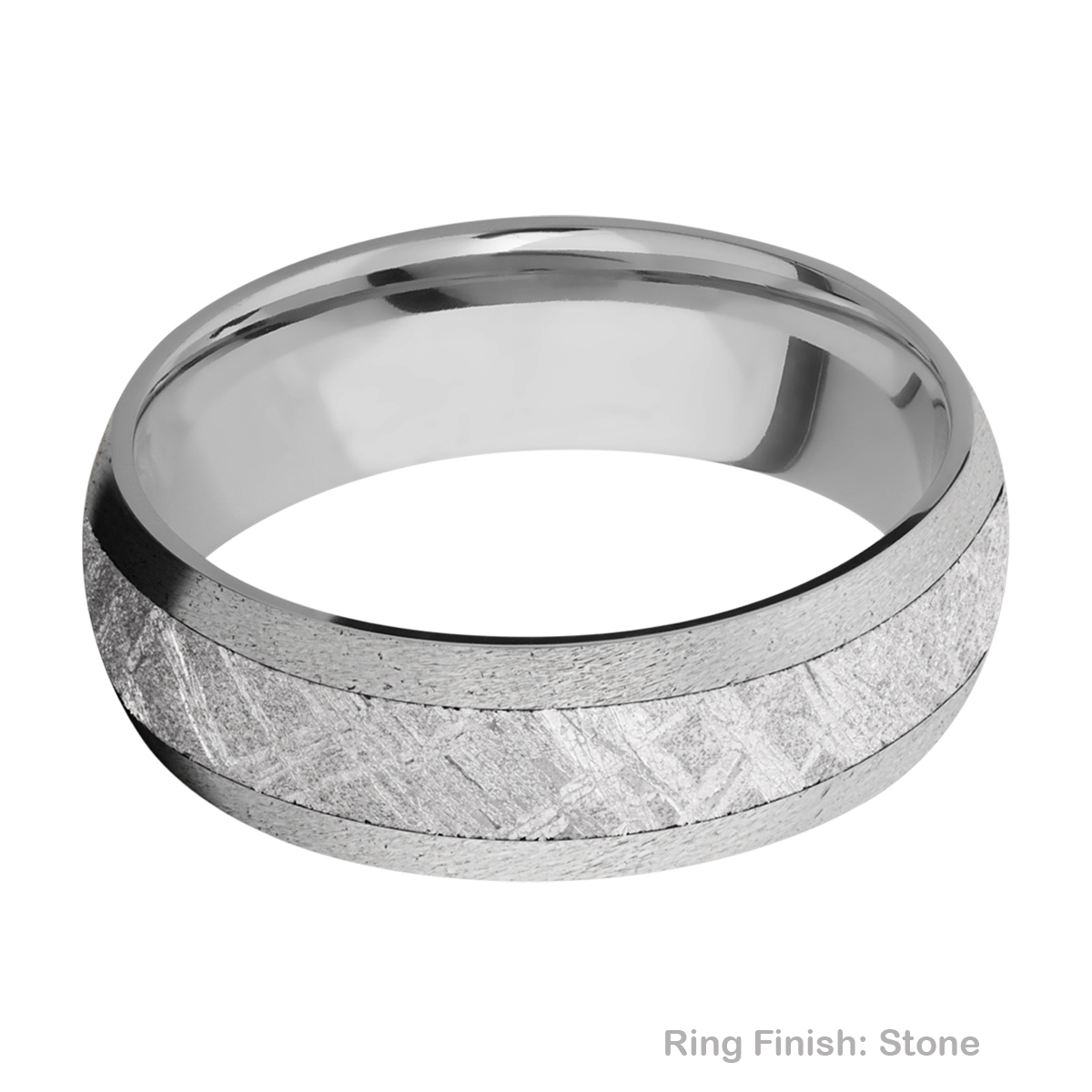 Lashbrook 7D14/METEORITE Titanium Wedding Ring or Band Alternative View 6