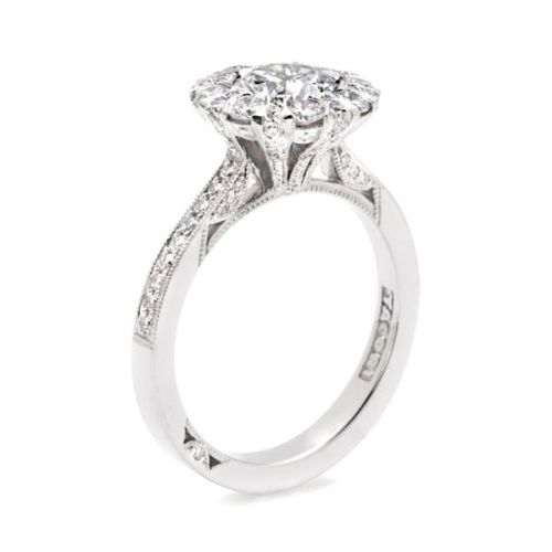 Simply Tacori 18 Karat Diamond Solitaire Engagement Ring 2642RD65 Alternative View 3