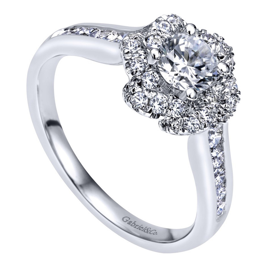 Gabriel 14 Karat Contemporary Engagement Ring ER910138W44JJ Alternative View 2
