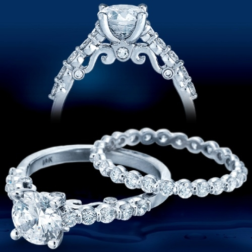 Verragio Platinum Insignia Engagement Ring INS-7034 Alternative View 1
