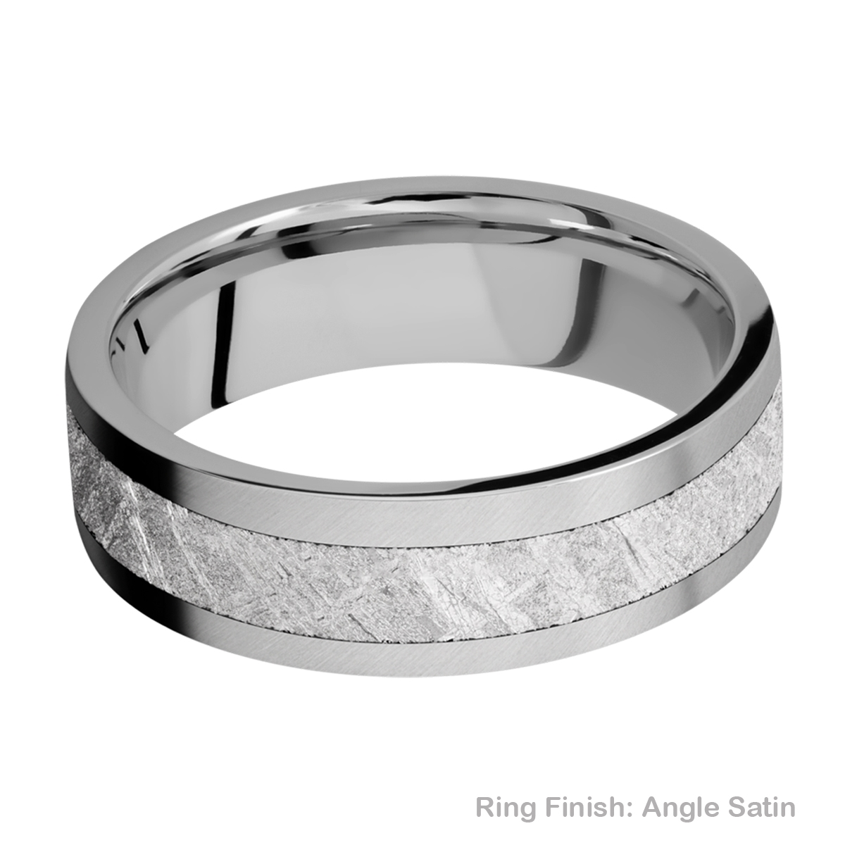 Lashbrook 7F14/METEORITE Titanium Wedding Ring or Band Alternative View 7
