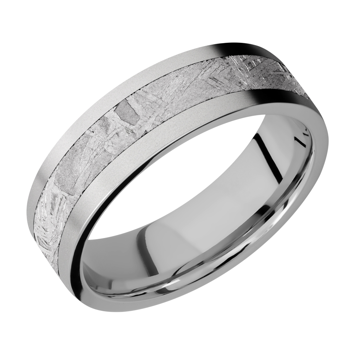 Lashbrook 7F14/METEORITE Titanium Wedding Ring or Band