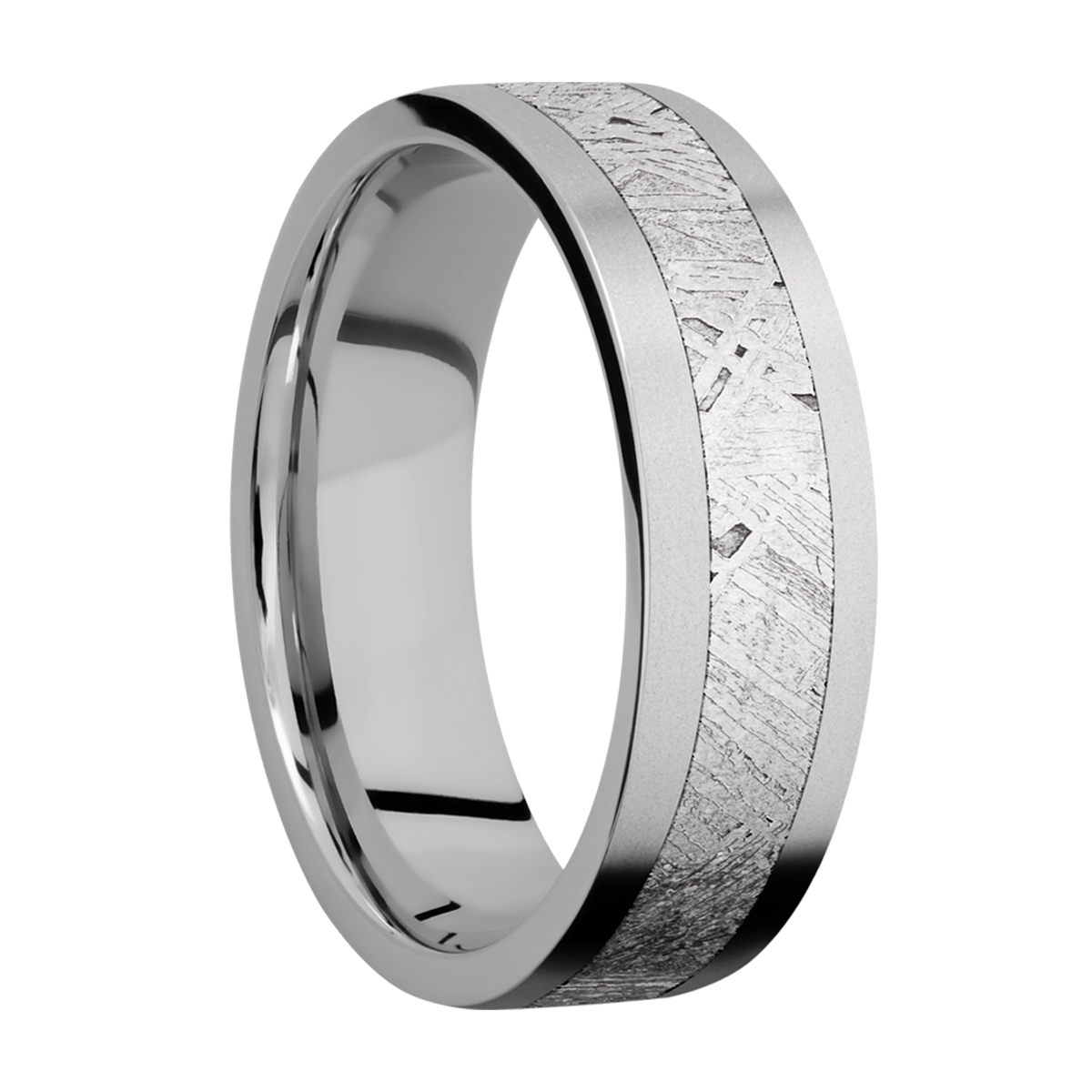 Lashbrook 7F14/METEORITE Titanium Wedding Ring or Band Alternative View 1