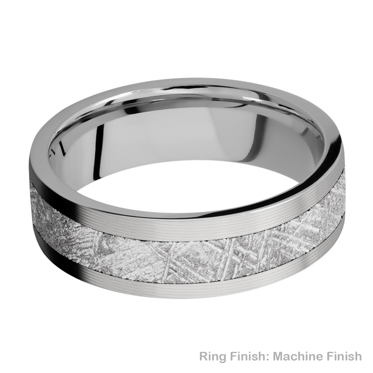 Lashbrook 7F14/METEORITE Titanium Wedding Ring or Band Alternative View 9