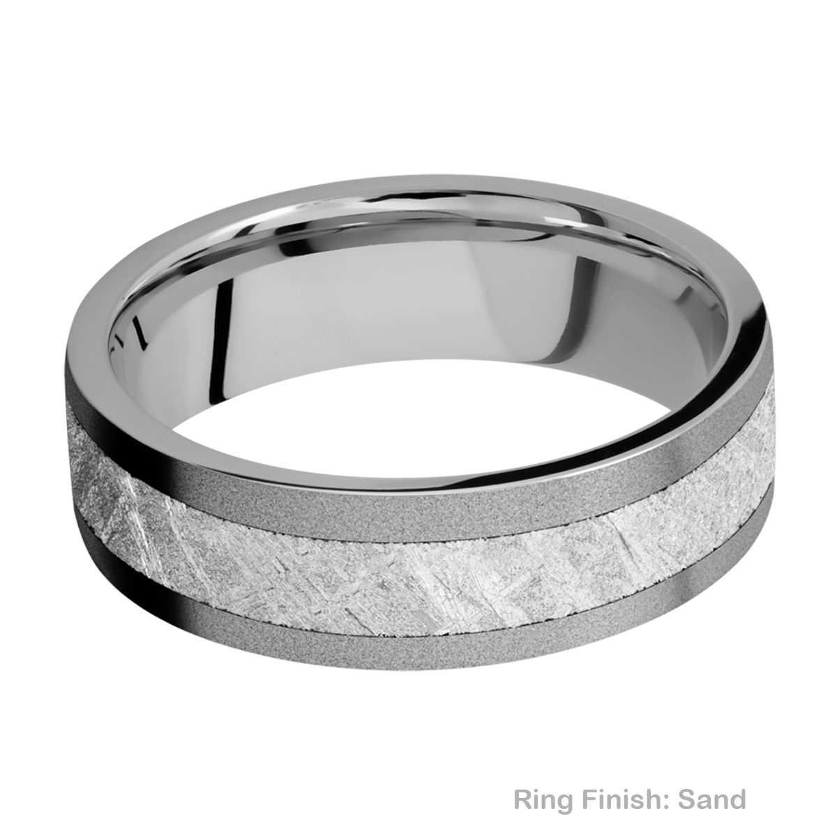 Lashbrook 7F14/METEORITE Titanium Wedding Ring or Band Alternative View 4