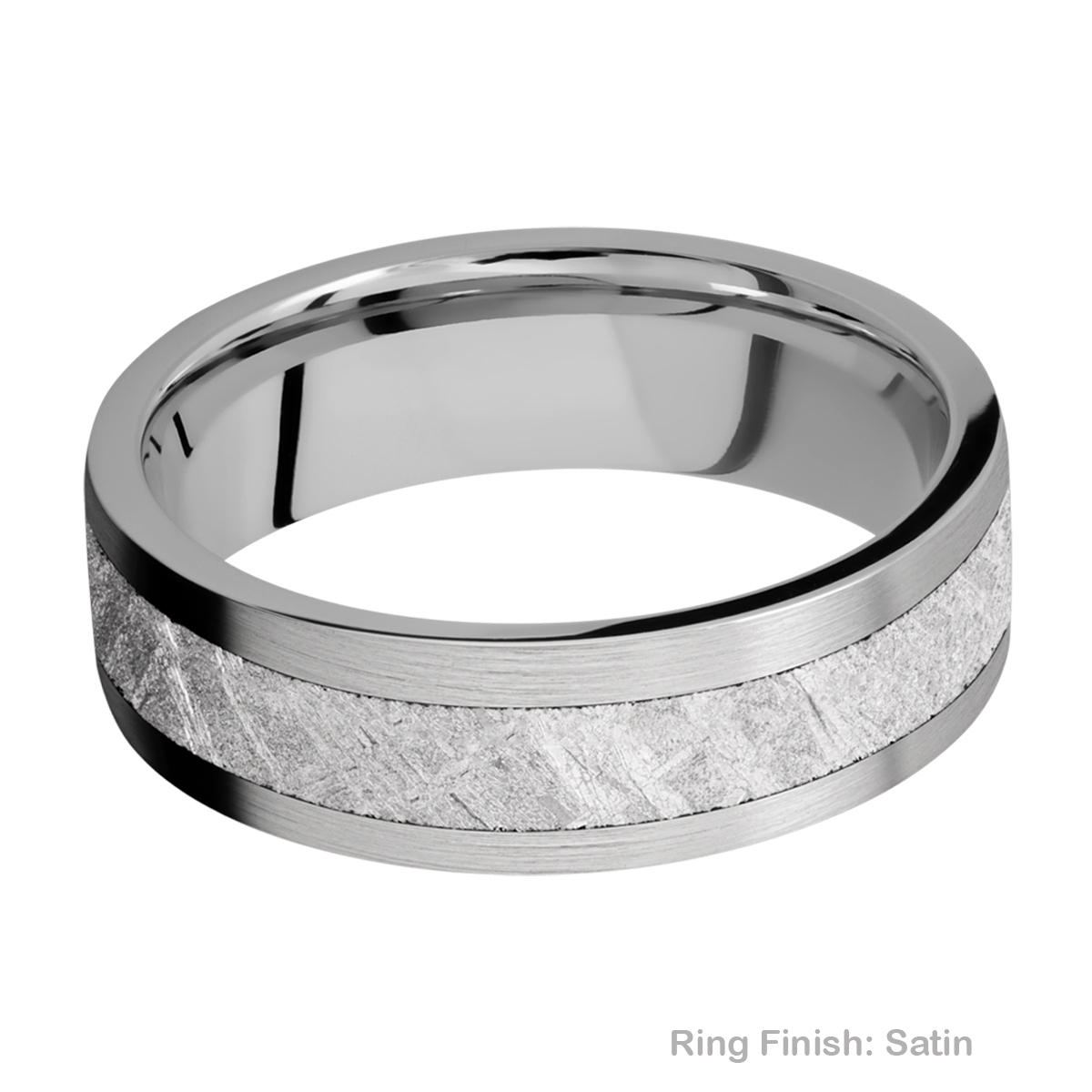 Lashbrook 7F14/METEORITE Titanium Wedding Ring or Band Alternative View 5