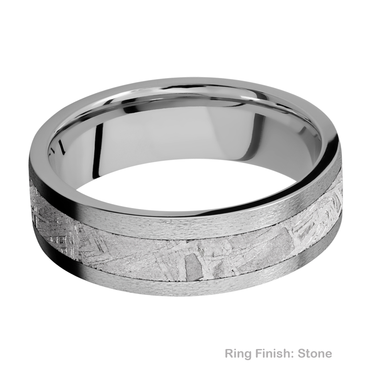 Lashbrook 7F14/METEORITE Titanium Wedding Ring or Band Alternative View 6