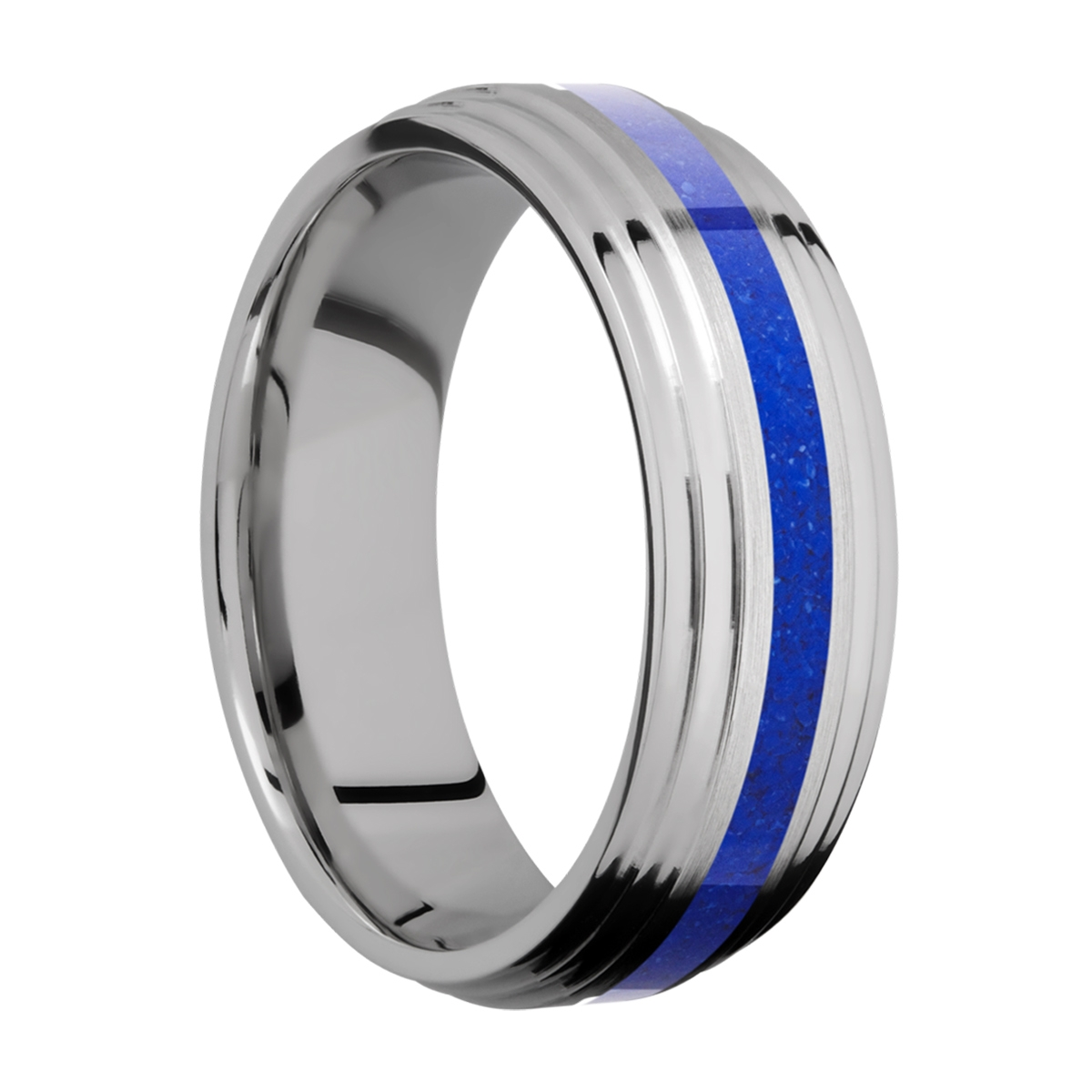 Lashbrook 7F2S12/MOSAIC Titanium Wedding Ring or Band Alternative View 1