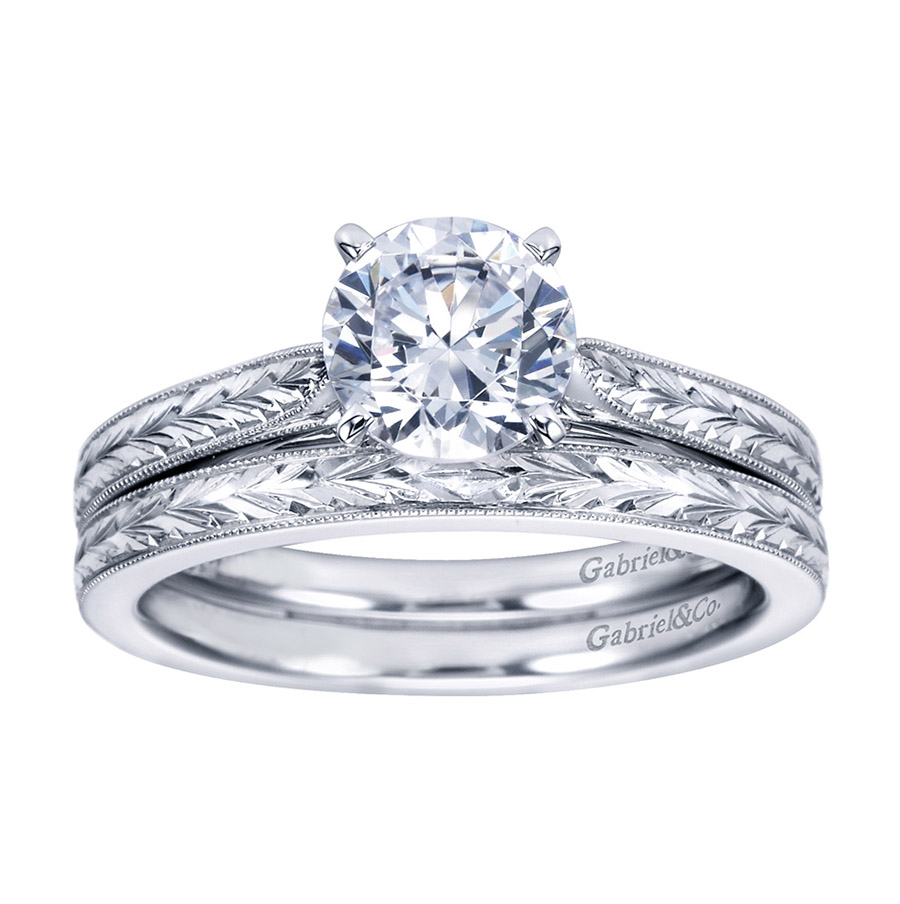 Gabriel Platinum Victorian Engagement Ring ER7223PTJJJ Alternative View 3
