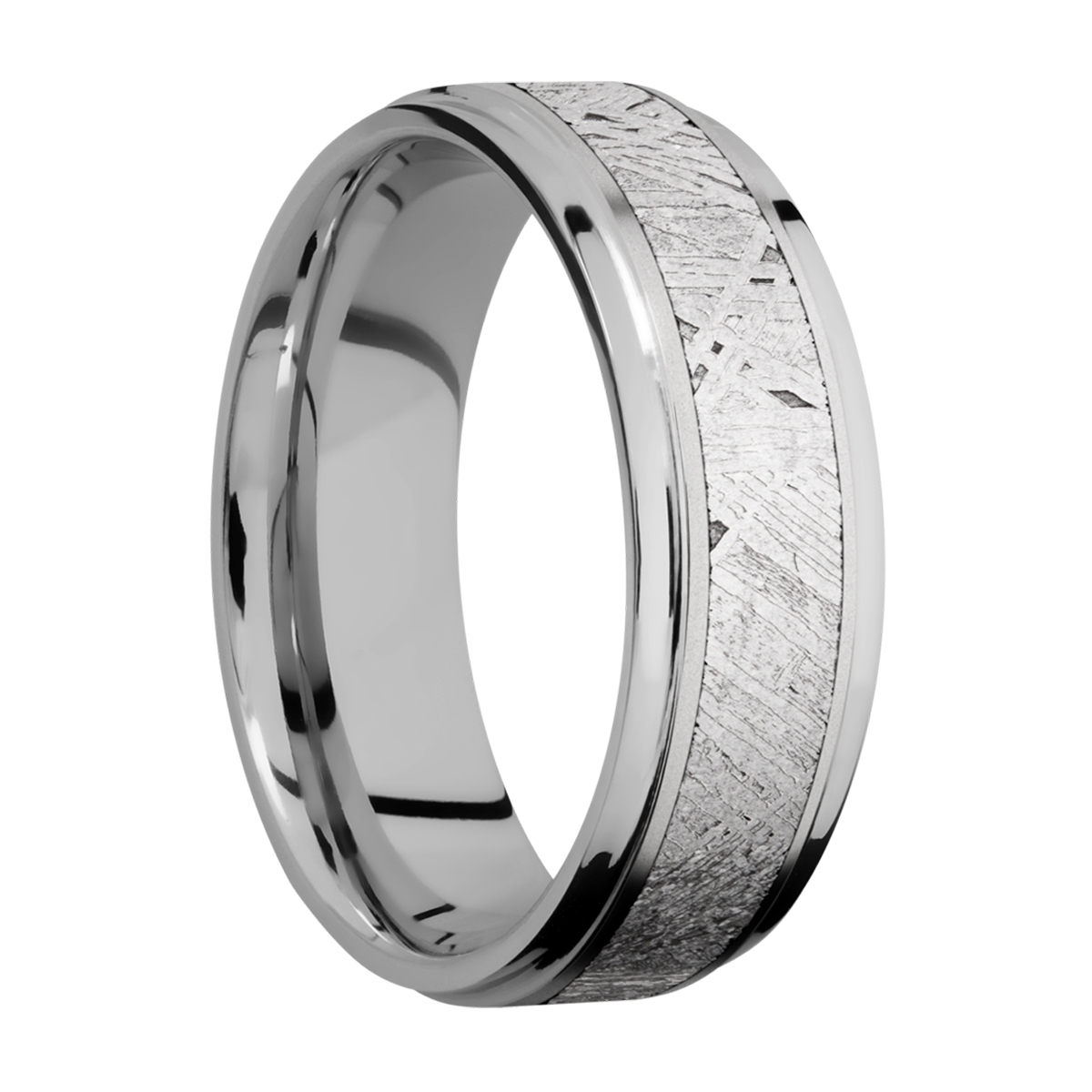 Lashbrook 7FGE14/METEORITE Titanium Wedding Ring or Band Alternative View 1