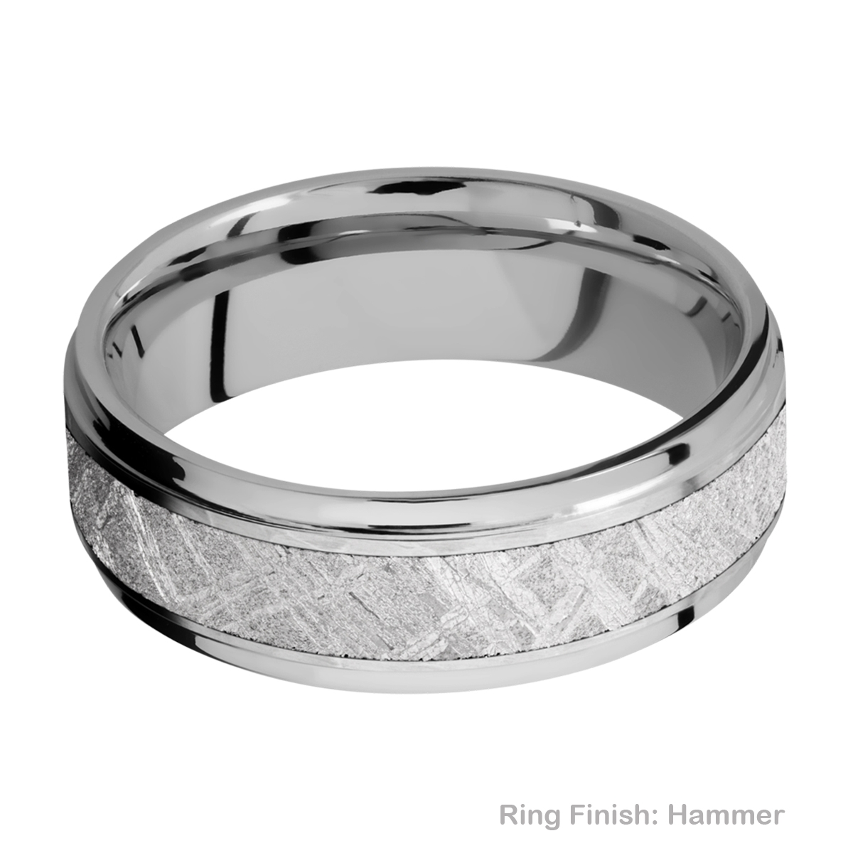 Lashbrook 7FGE14/METEORITE Titanium Wedding Ring or Band Alternative View 8