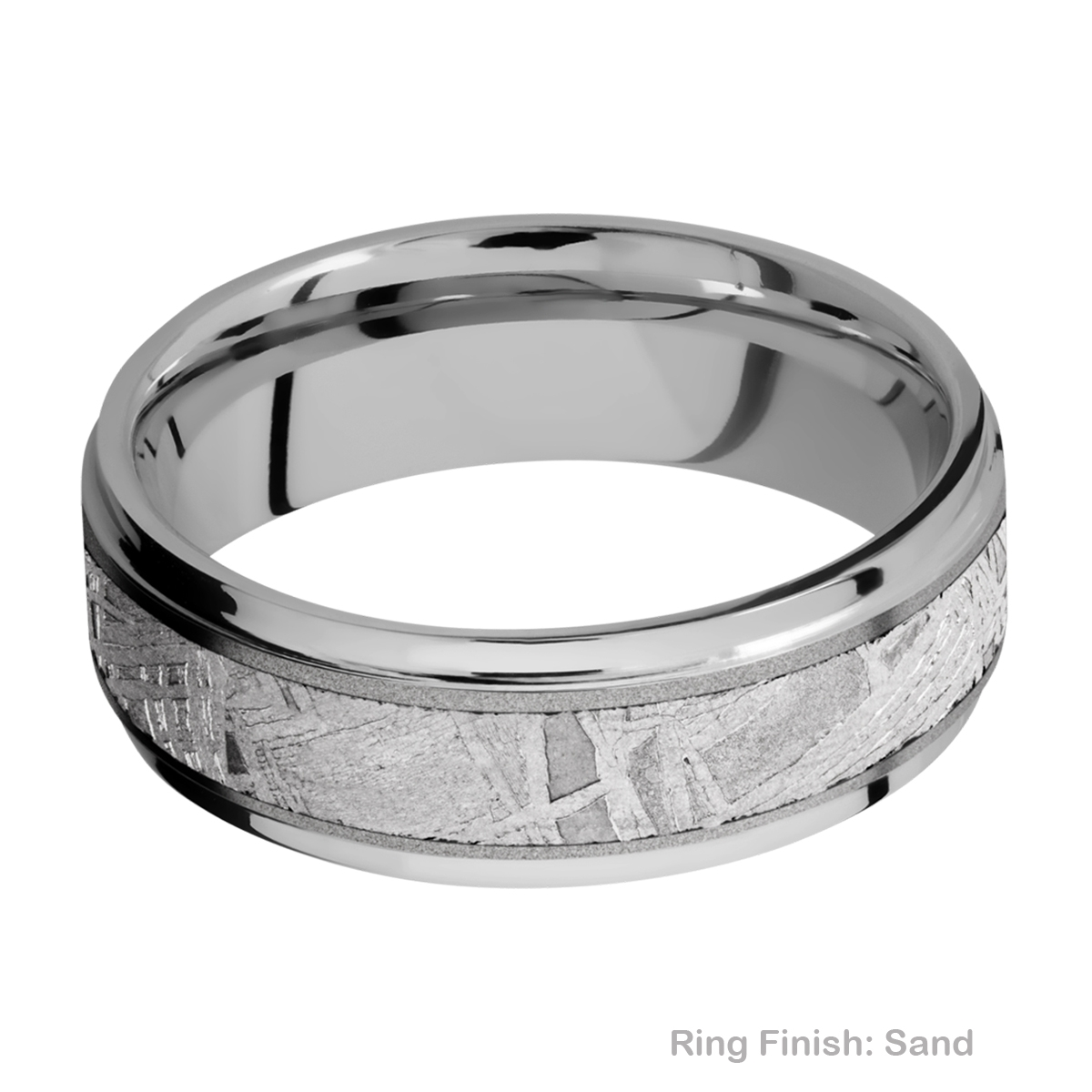 Lashbrook 7FGE14/METEORITE Titanium Wedding Ring or Band Alternative View 4