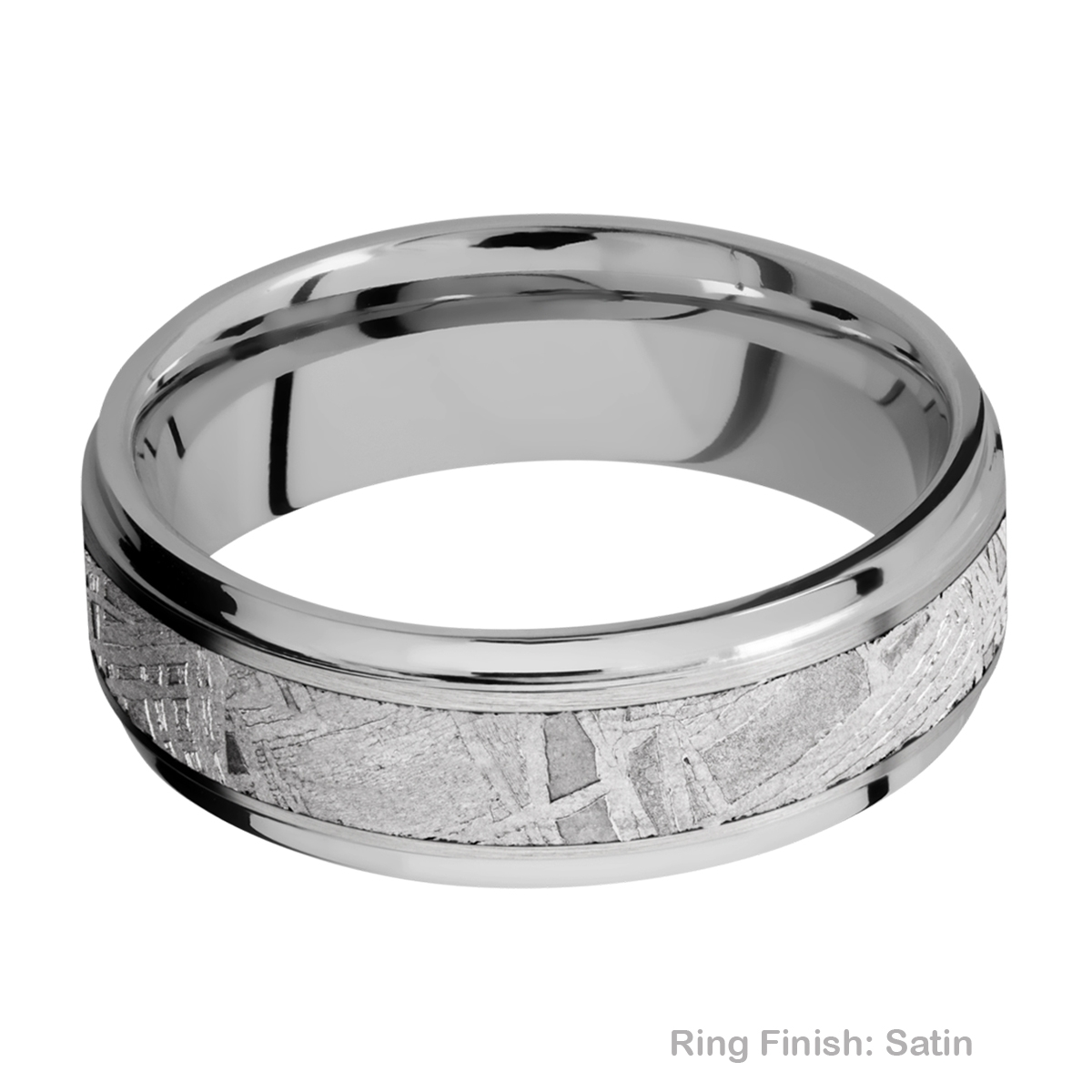 Lashbrook 7FGE14/METEORITE Titanium Wedding Ring or Band Alternative View 5