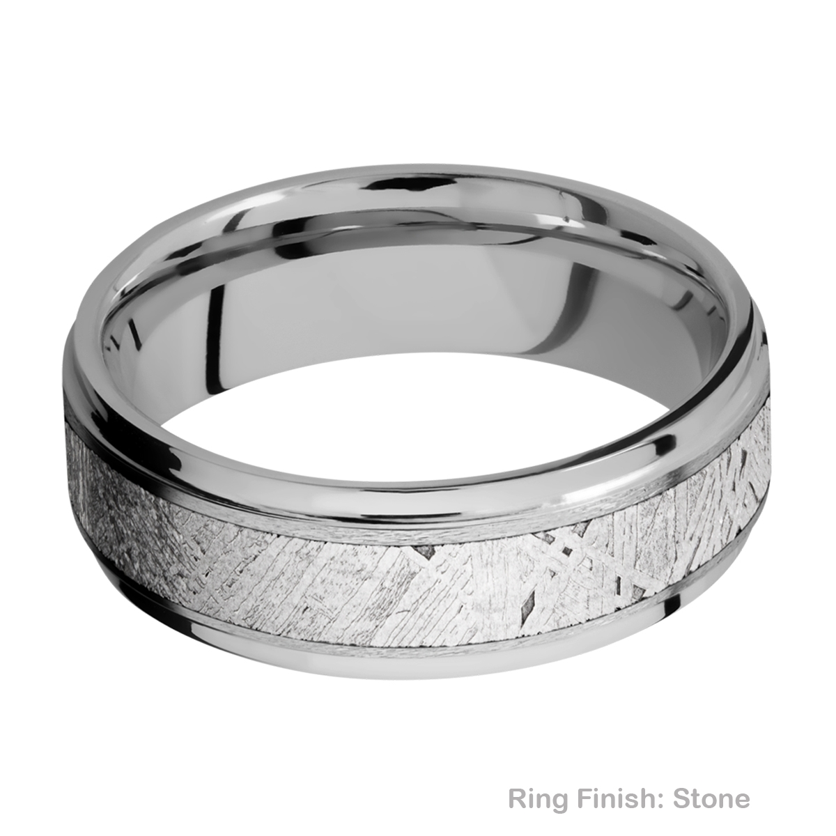 Lashbrook 7FGE14/METEORITE Titanium Wedding Ring or Band Alternative View 6