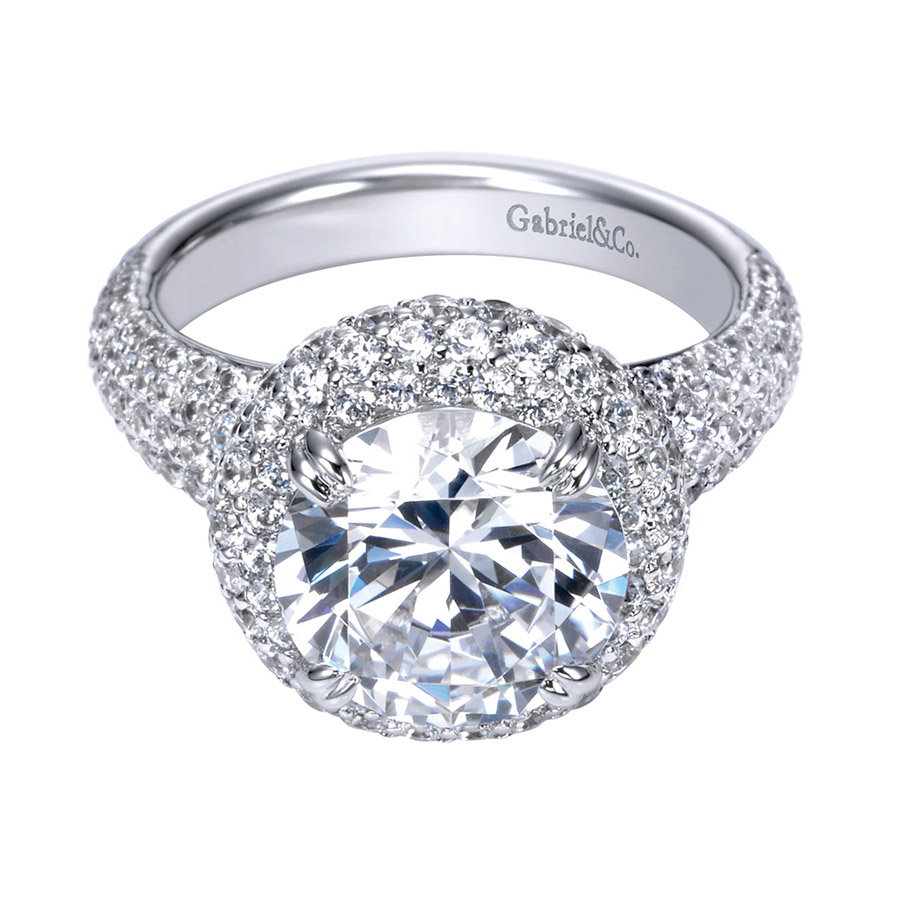 Gabriel 18 Karat Contemporary Engagement Ring ER8309W83JJ