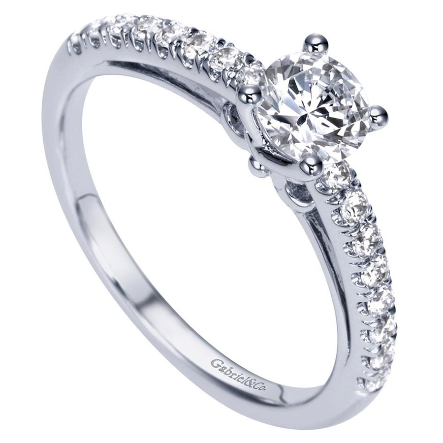 Gabriel 14 Karat Contemporary Engagement Ring ER98565W44JJ Alternative View 2