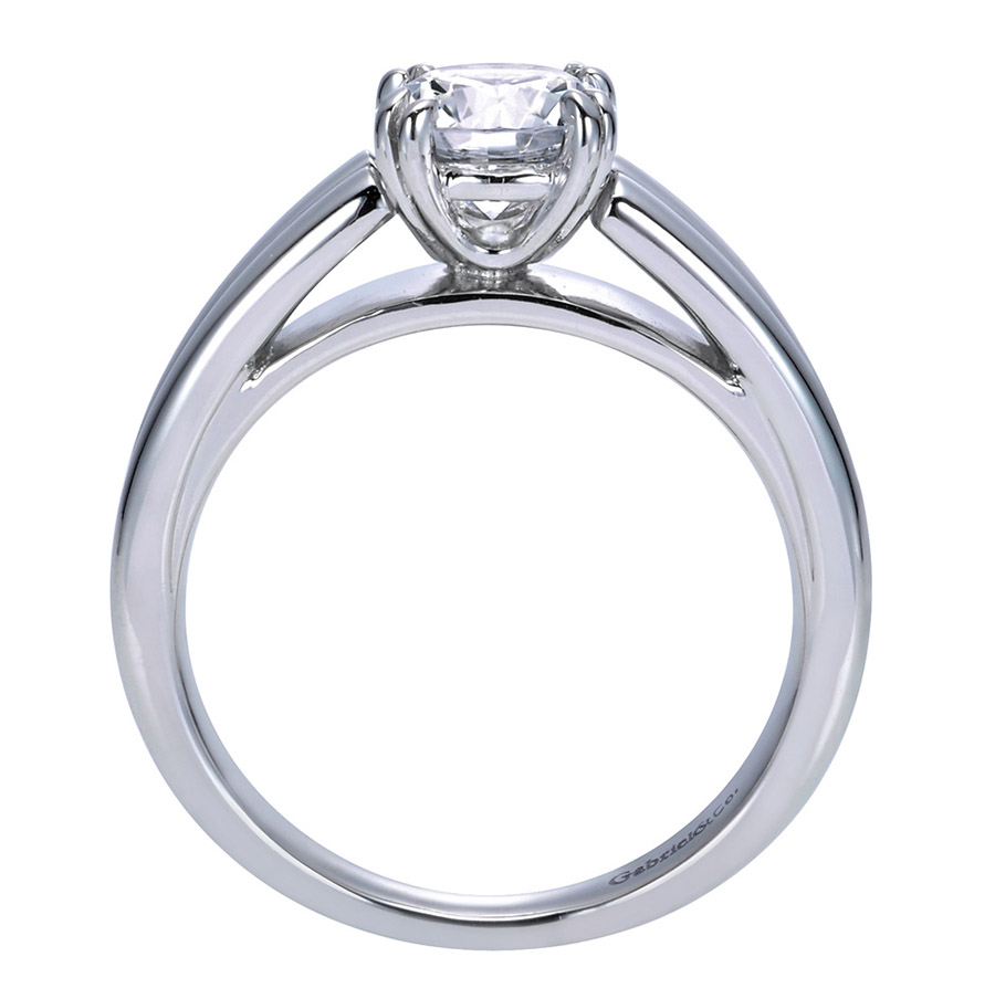 Gabriel Platinum Contemporary Engagement Ring ER8136PTJJJ Alternative View 1