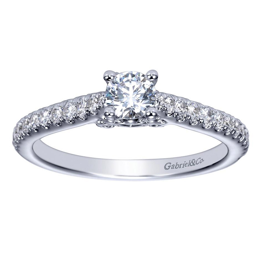 Gabriel 14 Karat Contemporary Engagement Ring ER98574W44JJ Alternative View 4