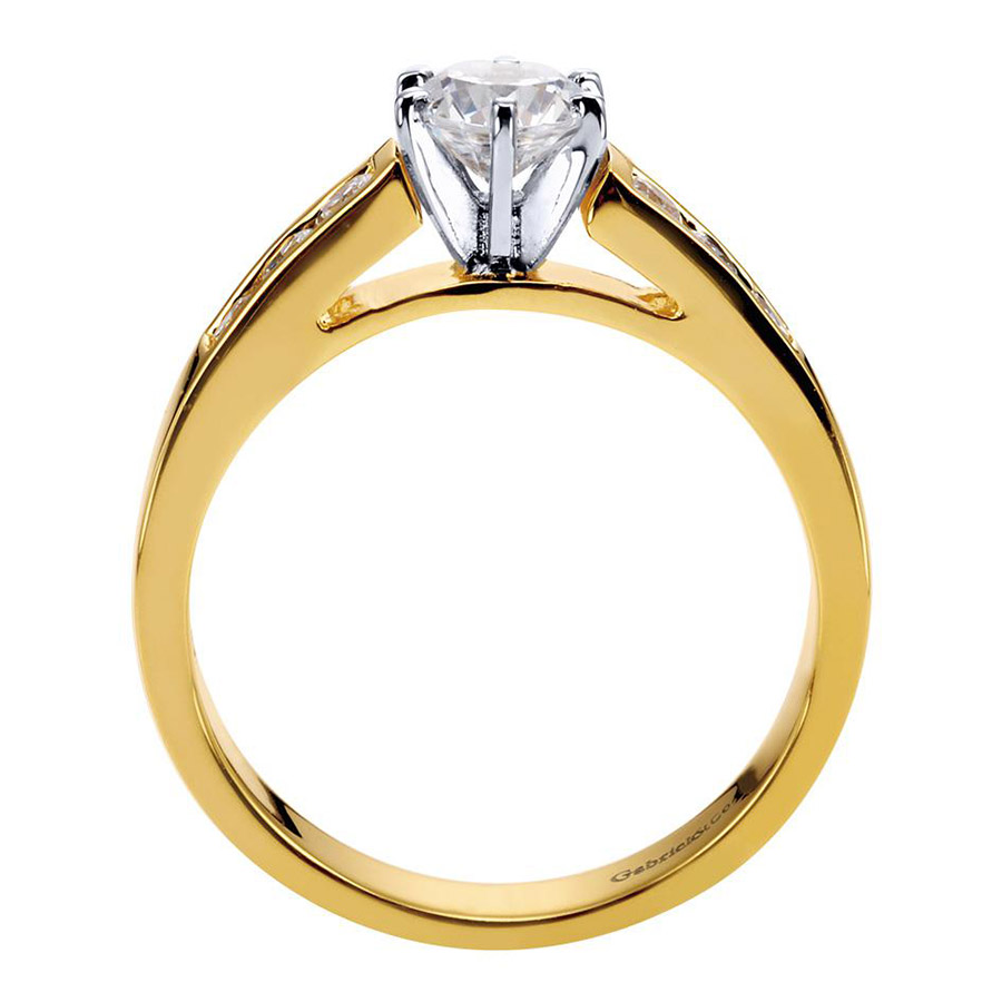 Gabriel 14 Karat Contemporary Engagement Ring ER2315M43JJ Alternative View 1