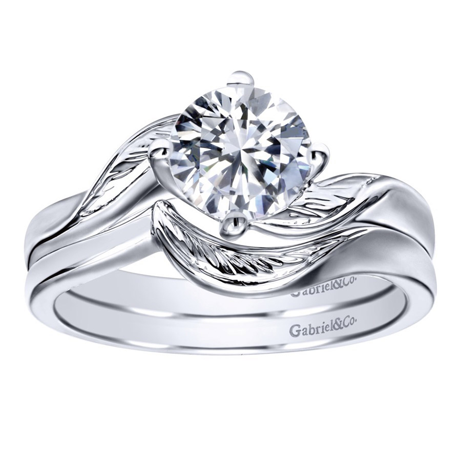Gabriel 14 Karat Contemporary Engagement Ring ER10253W4JJJ Alternative View 3