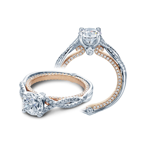 Verragio Couture-0421DR-TT Platinum Engagement Ring Alternative View 3