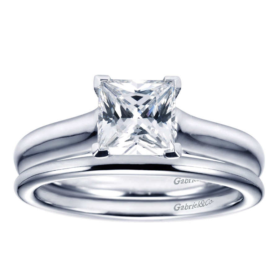 Gabriel Platinum Contemporary Engagement Ring ER6606PTJJJ Alternative View 3