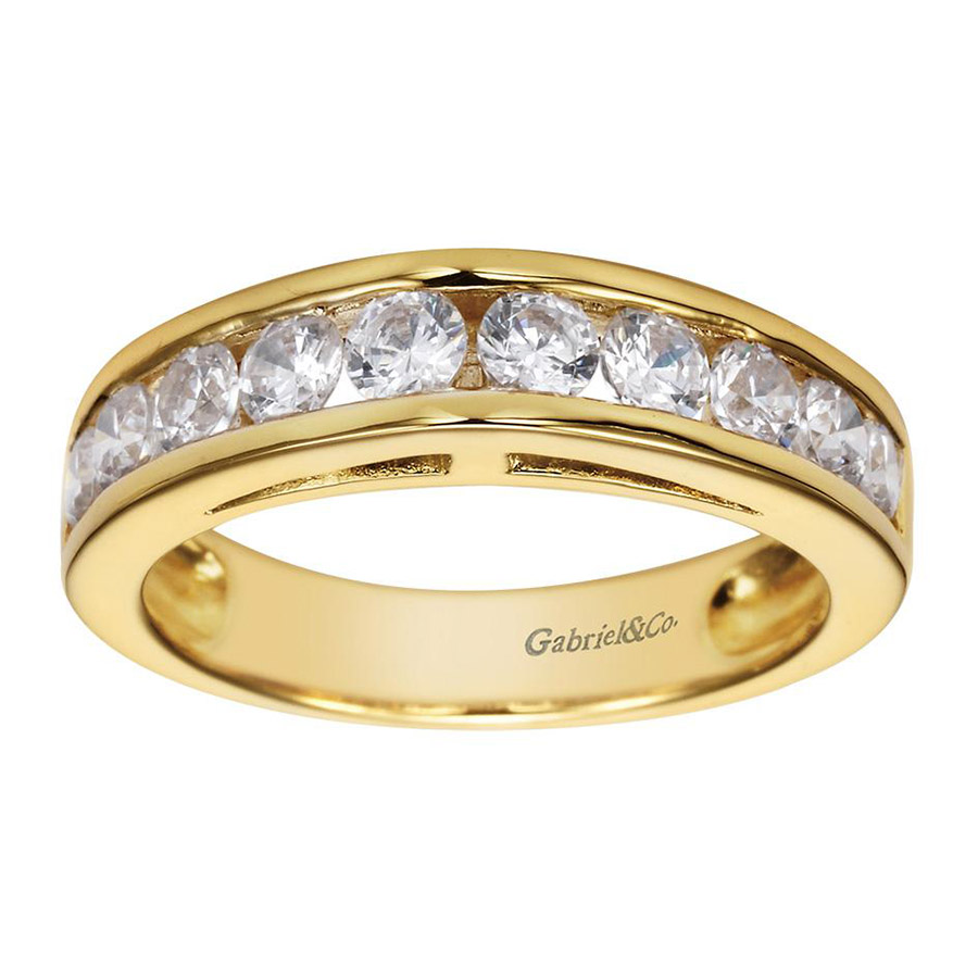 Gabriel 14 Karat Contemporary Wedding Band WB1707Y44JJ Alternative View 4