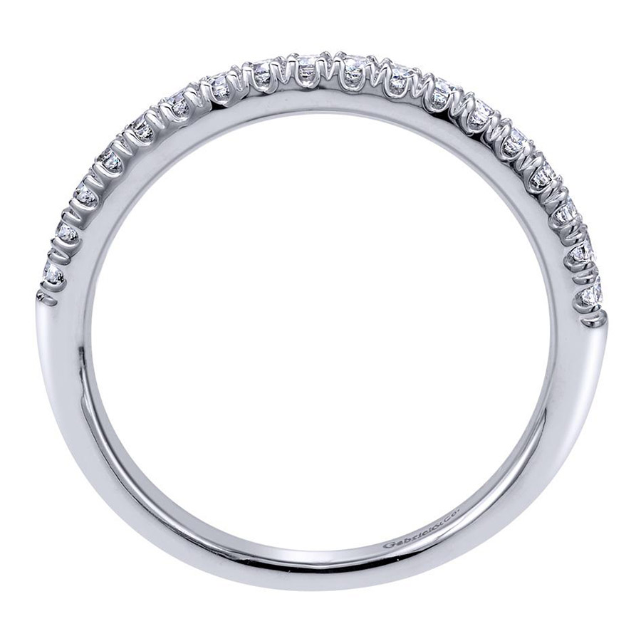 Gabriel 14 Karat Contemporary Wedding Band WB10483W44JJ Alternative View 1